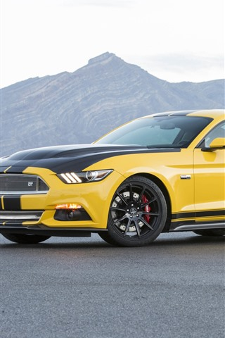 iPhone Wallpaper Ford Mustang Shelby GT yellow supercar
