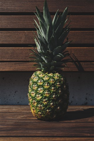 iPhone Wallpaper Pineapple, bench, shadow