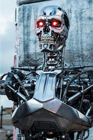 iPhone Hintergrundbilder Terminator, Roboter