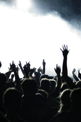 iPhone Wallpaper Hands, people, concert