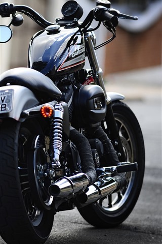 iPhone Wallpaper Harley-Davidson motorcycle back view