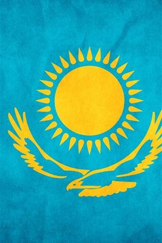 iPhone Wallpaper Kazakhstan flag