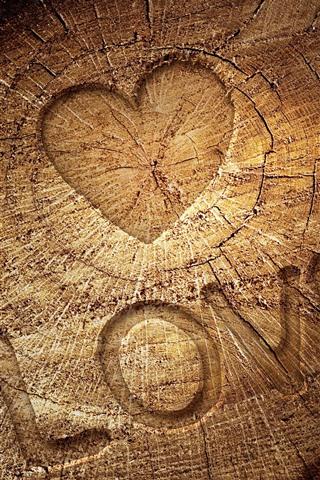 iPhone Wallpaper Love, stump