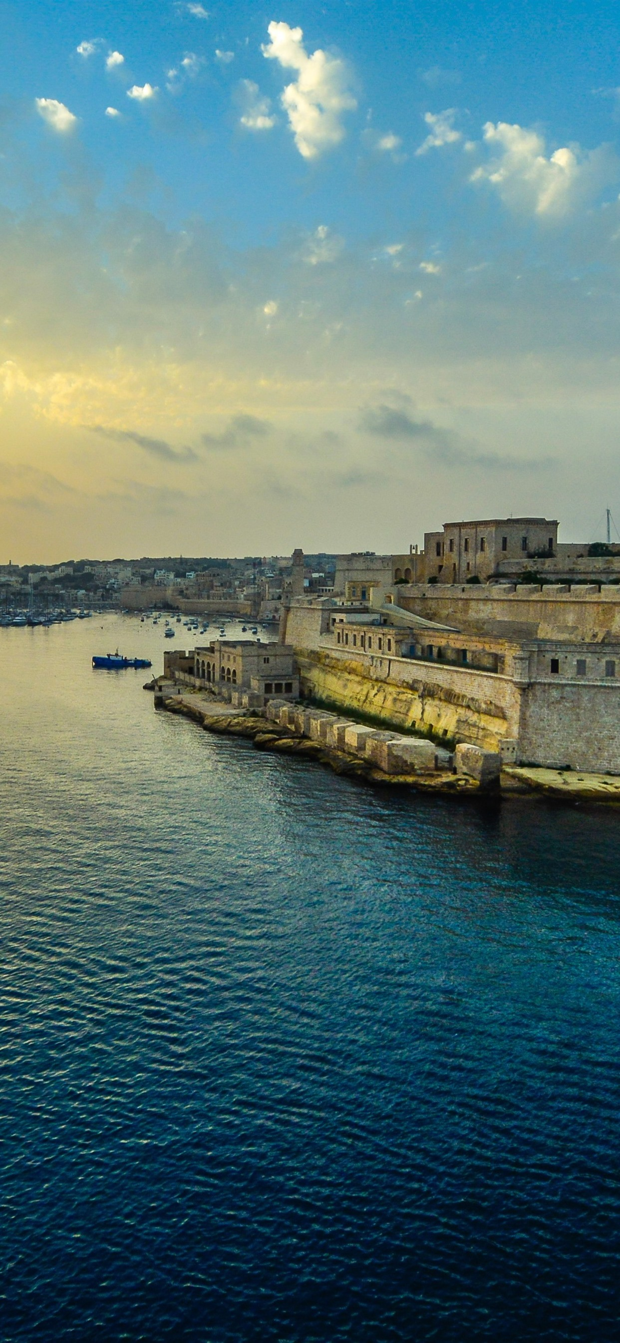 Malta Valletta Harbor Sunset Clouds Sea City 1242x2688 Iphone 11 Pro Xs Max Wallpaper Background Picture Image
