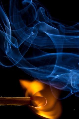 iPhone Wallpaper Matches, fire, smoke