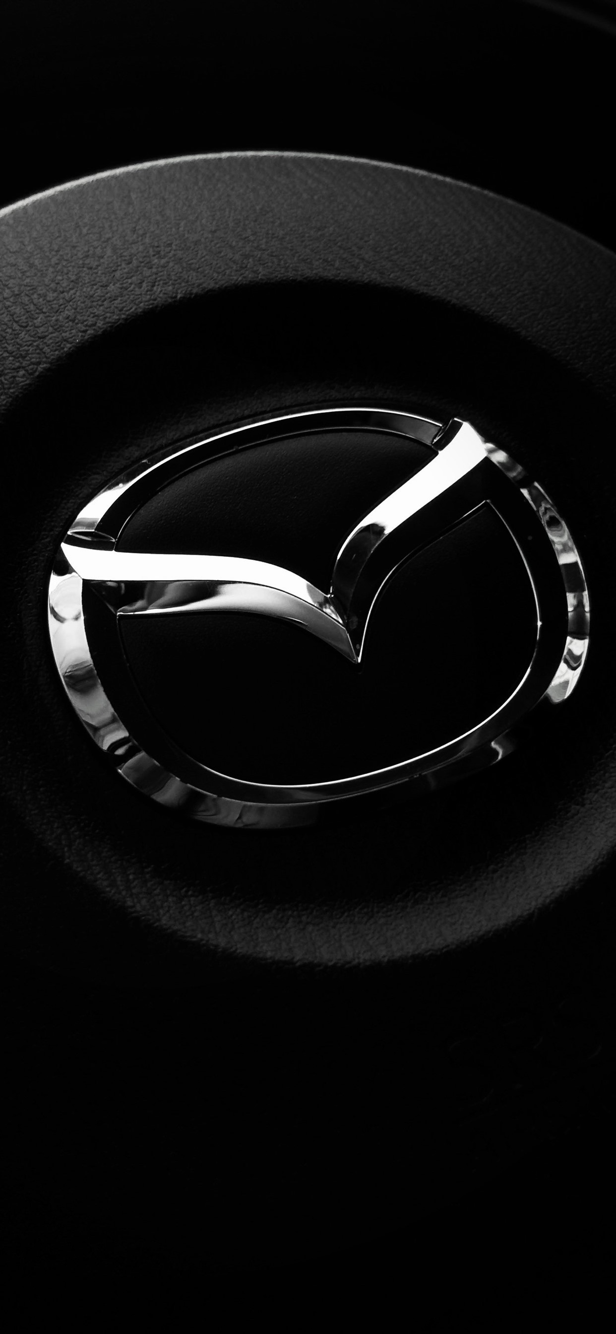 Mazda Logo Steering Wheel 1242x2688 Iphone 11 Pro Xs Max Wallpaper Background Picture Image