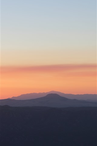 iPhone Wallpaper Mountains, sky, sunrise, dawn, morning