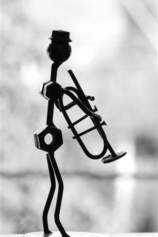 iPhone Wallpaper Musician, metal art works