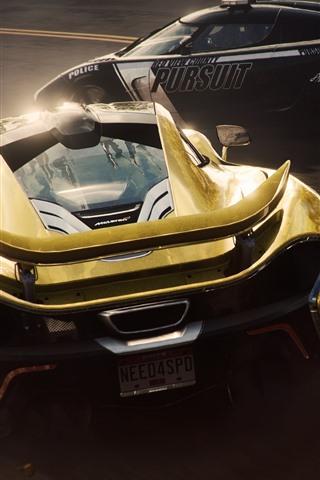 iPhone Papéis de Parede Need for Speed, dois supercarros, Mclaren