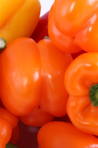 iPhone Wallpaper Orange and red peppers, vegetable