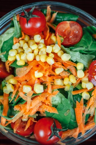 iPhone Wallpaper Vegetable salad, bowl