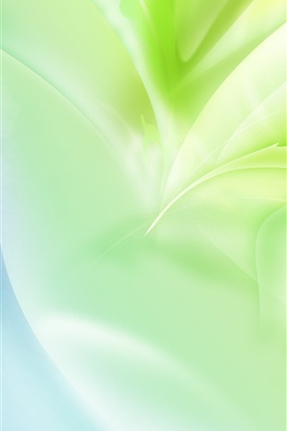 iPhone Wallpaper Abstract green leaves, glare, creative