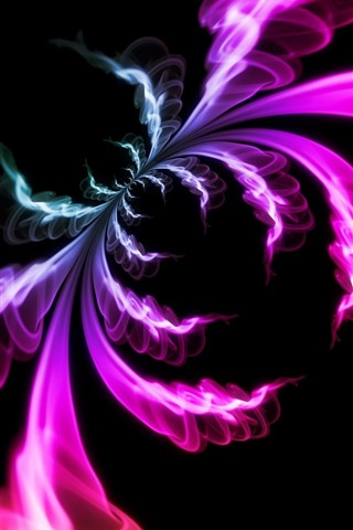 iPhone Wallpaper Abstract picture, colorful smoke, like a spider