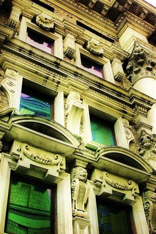 iPhone Wallpaper City, building, windows