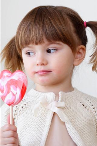iPhone Papéis de Parede Menina bonitinha e doces