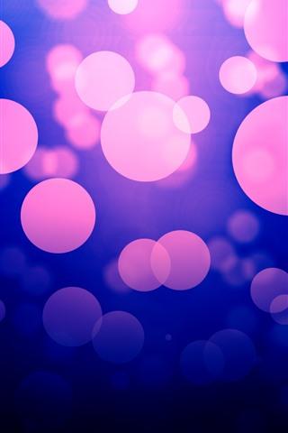 iPhone Wallpaper Abstract purple light circles, glare