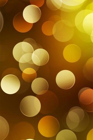 iPhone Wallpaper Abstract yellow light circles, bright, shine