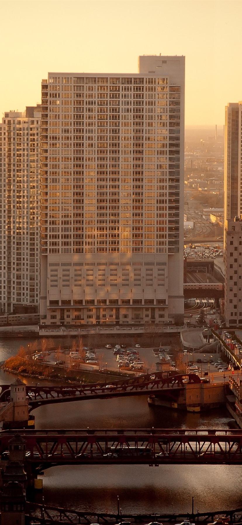 Обои дома, филадельфия, сша, небоскребы, утро. Города foto 9