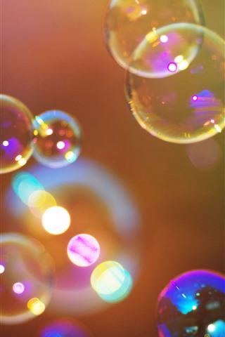 iPhone Wallpaper Colorful bubbles