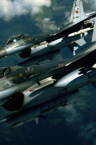 iPhone Wallpaper F16 jet fighter