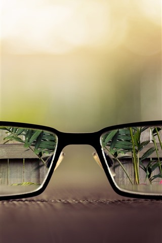iPhone Wallpaper Glasses, clear vision