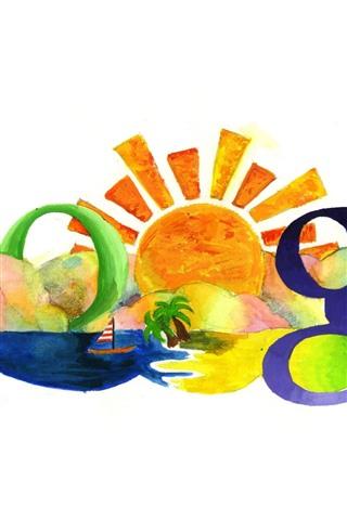 iPhone Papéis de Parede Google, colorido, pintura