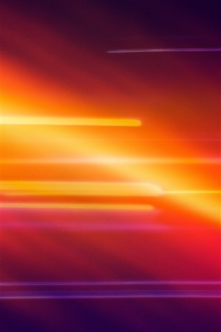 iPhone Wallpaper Orange and red light, abstract picture