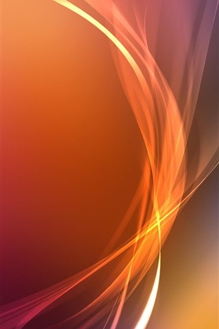 iPhone Wallpaper Orange curves, abstract