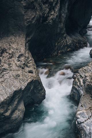 iPhone Papéis de Parede Rochas, riacho, água
