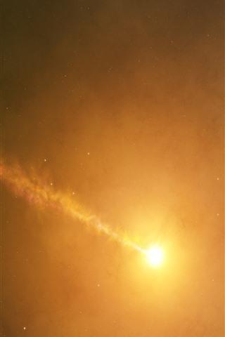 iPhone Wallpaper Sun, space, hazy, glare, infinite universe