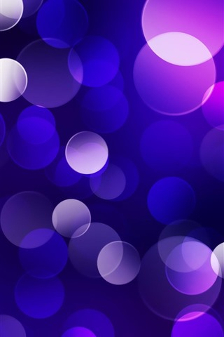 iPhone Wallpaper Blue and purple light circles, abstract