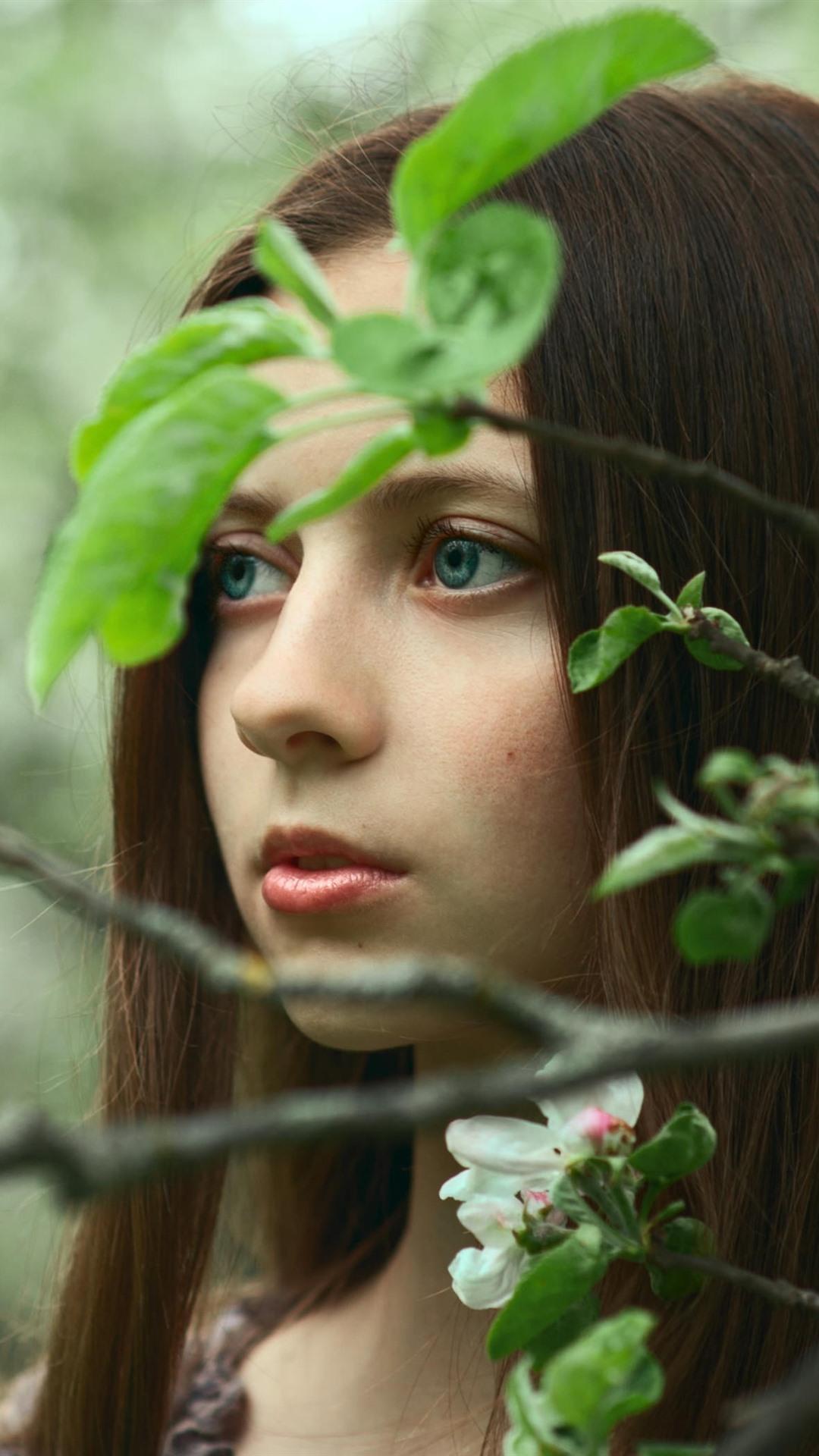 Haare grüne augen mädchen braune Mädchen braune