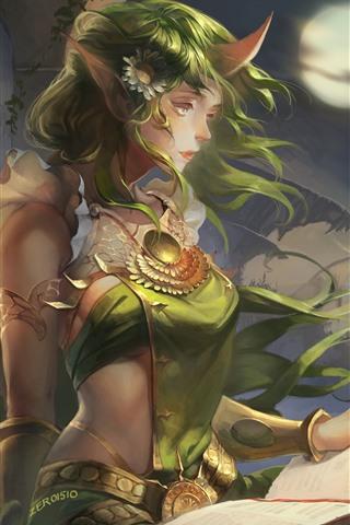 iPhone Papéis de Parede League of Legends, Soraka, linda garota