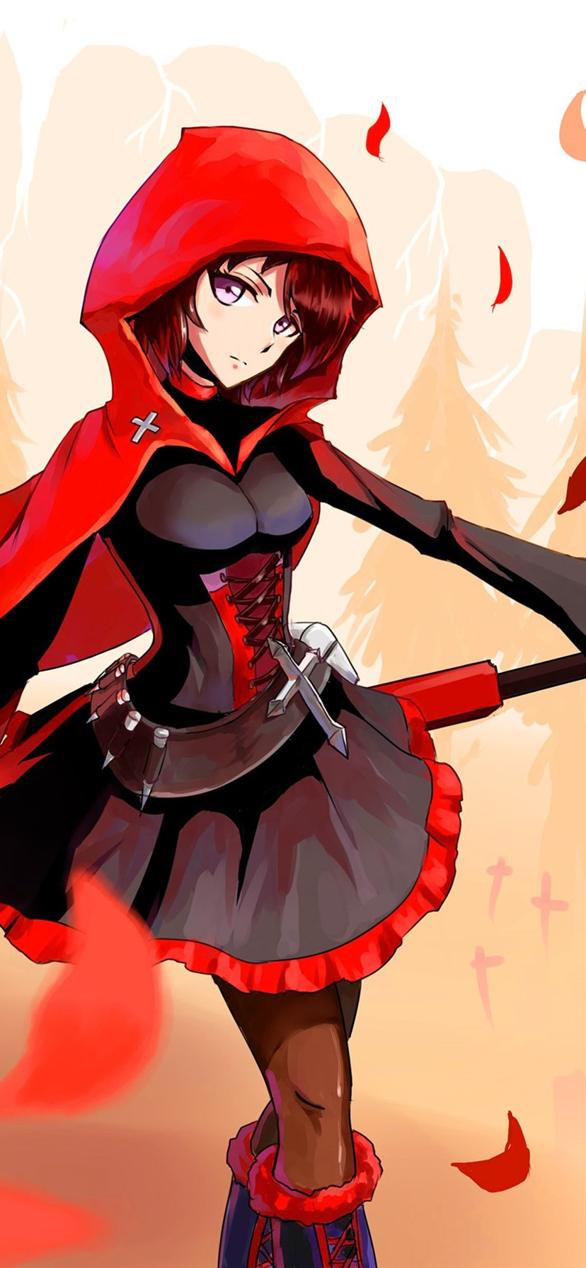 Little Red Riding Hood Anime Girl 828x1792 Iphone 11 Xr Wallpaper Background Picture Image