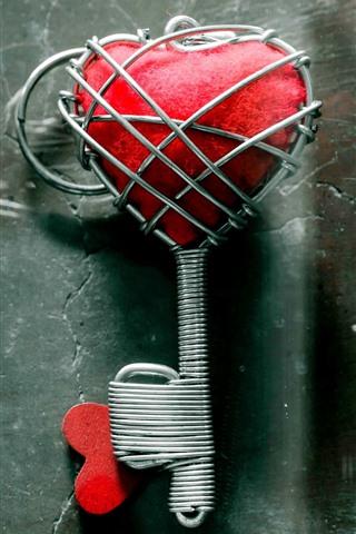 iPhone Wallpaper Love heart key
