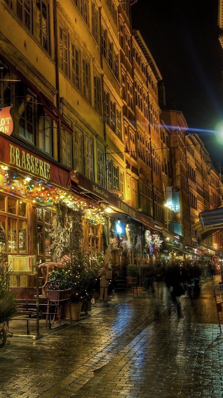 Обои фонари, забор, ночь, улица. Города foto 18