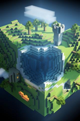 iPhone Papéis de Parede Minecraft, plantas, jogo