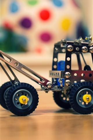 iPhone Wallpaper Toy truck, metal