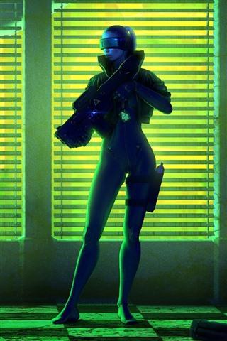 iPhone Papéis de Parede Dois soldados, escuridão, imagem do jogo
