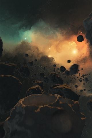 iPhone Wallpaper Universe, stones, galaxy, stars