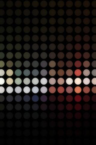 iPhone Papéis de Parede Bolas coloridas abstratas, ponto de luz