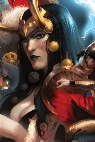 iPhone Wallpaper Art picture, Thor, lightning