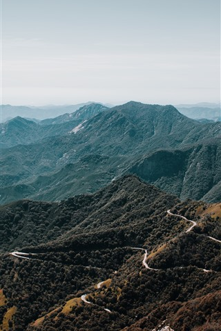 iPhone Wallpaper Mountains, road, valley