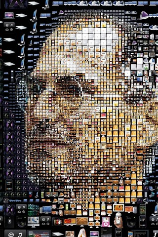 iPhone Papéis de Parede Steve Jobs, rosto, imagem criativa