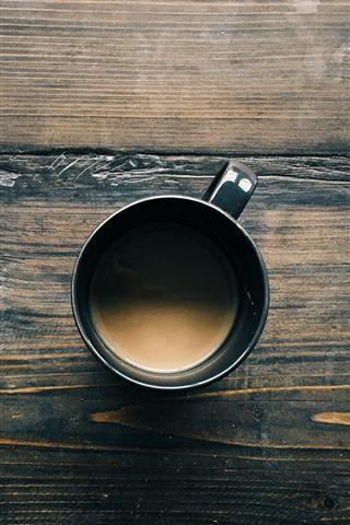 iPhone Papéis de Parede Vista superior do café, xícara, mesa