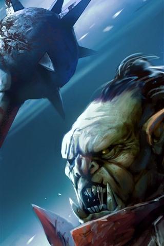 iPhone Papéis de Parede Monstro, guerreiro, presas, imagem artística