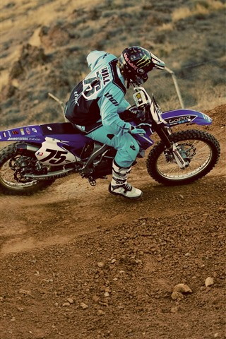 iPhone Wallpaper Motorcycle, sport, dirt