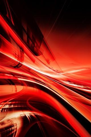 iPhone Papéis de Parede Linhas vermelhas abstratas, curva