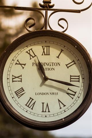 iPhone Hintergrundbilder Große Uhr, Straße, London