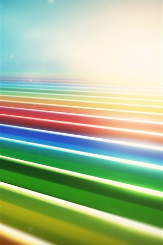 iPhone Wallpaper Colorful lines, glare, abstract
